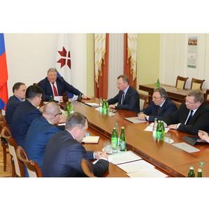 Президент «Евроцемент груп» обсудил с Главой Мордовии перспективы развития «Мордовцемента»