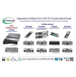 Supermicro® представляет новый X10 3U MicroCloud