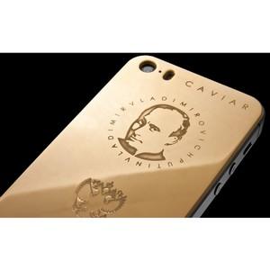 Куплено уже больше 100 золотых телефонов с портретом Путина, заказы продолжают поступать