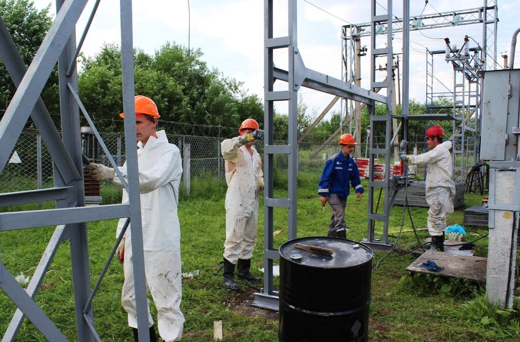 Студотряд «Энергорегион 18» работает на объектах Удмуртэнерго