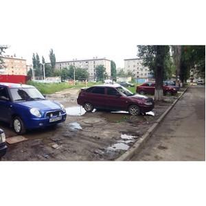 Активисты ОНФ раскритиковали качество благоустройства дворов в Семилуках