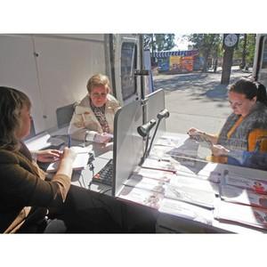 Мобильная клиентская служба ПФР провела прием граждан в Парке культуры и отдыха г.Тамбова