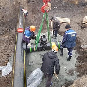 Врезка и перекрытие трубопровода под давлением