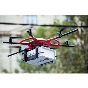Первый дрон DPD пролетел над Елисейскими Полями