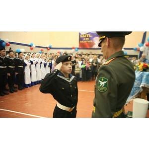 Кинокомпания «Союз Маринс Групп» на присяге у подшефных кадетов