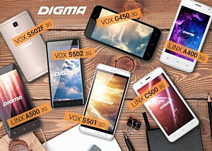Digma представляет новые модели смартфонов в рамках форума Distree Russia & CIS 2016