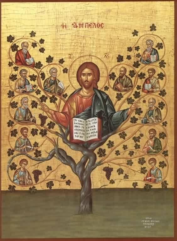 Икона «Спас Лоза Истинная» для часовни Андрея Первозванного (Талдомский район)