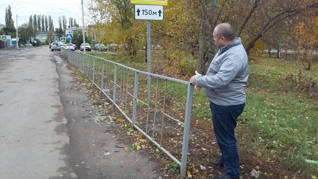 ОНФ обеспокоен безопасностью детей возле двух образовательных учреждений Новой Усмани