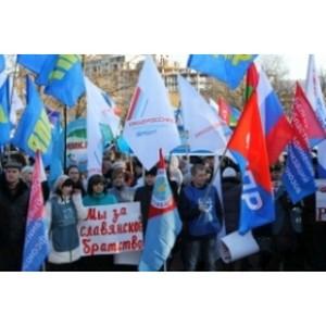 Активисты ОНФ в Белгороде приняли участие в митинге-концерте в честь годовщины возвращения Крыма