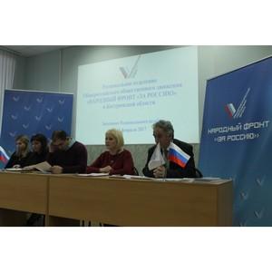 Костромские активисты Народного фронта обсудили приоритетные направления деятельности в 2017 году
