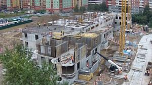 Детский сад в Московском районе строится уже на уровне второго этажа