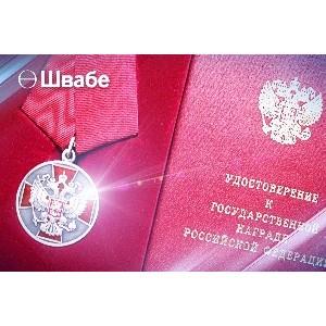 Ученый «Швабе» удостоен медали ордена «За заслуги перед Отечеством»