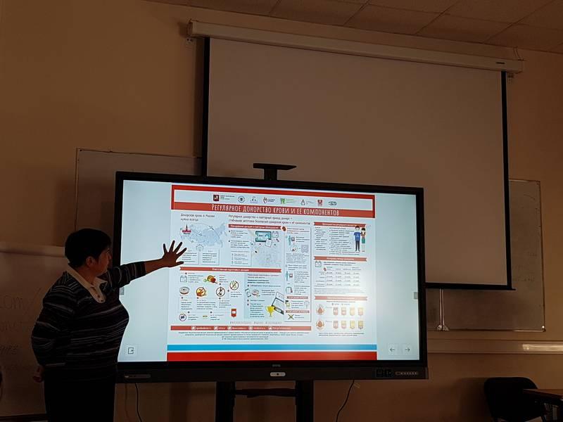 Школьники Москвы получают знания о донорстве крови на интерактивных лекциях