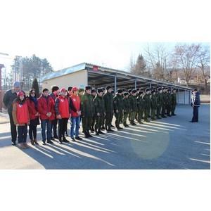 «Молодежка ОНФ» в Кабардино-Балкарии организовала для атажукинских кадетов акцию «В армию на денек»