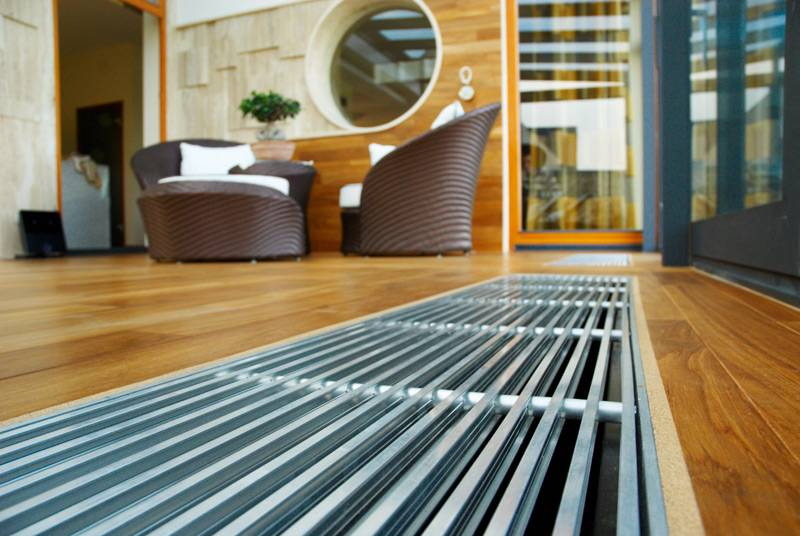Конвекторы внутрипольные с вентилятором Vector-Climatic