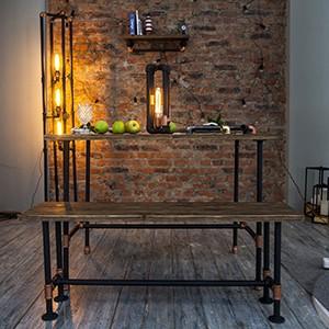 Дизайн-студия Home Loft Studio презентовала новую серийную коллекцию мебели из водопроводных труб
