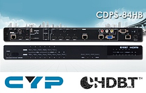 Новинка от Cypress – 8х4 масштабатор/коммутатор  CDPS-84HB для профессионалов аудио/видео