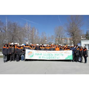 «Липецкцемент» провел в очередной раз экологическую акцию «Нам здесь жить и работать»