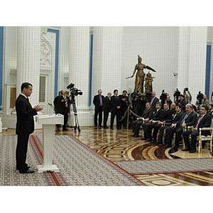 Партия горожан на встрече с Президентом России