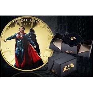 """Золотая монета в честь фильма """"Бэтмен против Супермена"""""""