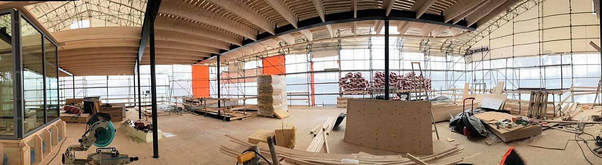 Начались строительные работы по возведению банного павильона в городе Тампере, Финляндия.