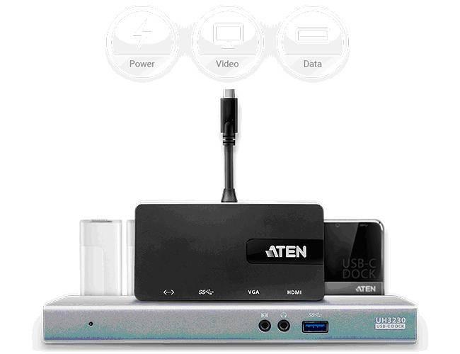 Передовая линейка USB-C док-станций и конвертеров Aten