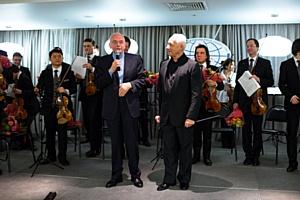 Оркестр «Виртуозы Москвы» под управлением Владимира Спивакова выступил в клинике «Медицина»