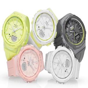 Молодежные спортивные часы Casio из серии BGS-100 для девушек - с шагомером и акселерометром