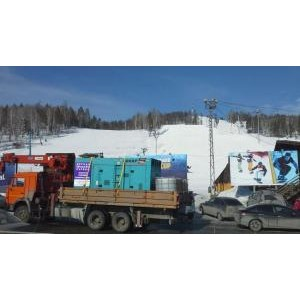 Электростанция 300 кВт на Этапе Кубка мира по сноуборду на горном курорте «Солнечная долина»