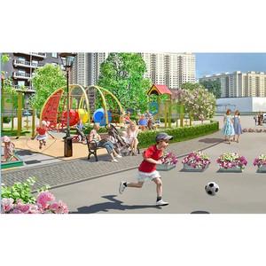 Площадь детских игровых и спортивных площадок в ЖК «Котельнические высотки» составит 1500 кв.м.