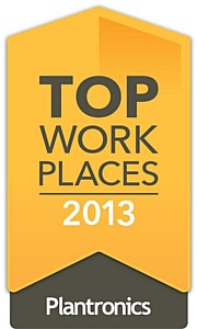 Plantronics ��������� 2013 Top Workplace �� ������ ����������� ������� ����