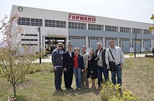 Выездная конференция компании «Форвард ГНБ» для своих партнеров на производстве.