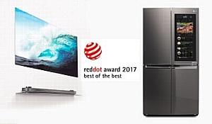 """Компания LG дважды становится """"Лучшей из лучших"""" по версии """"Red Dot Awards"""" 2017 года"""
