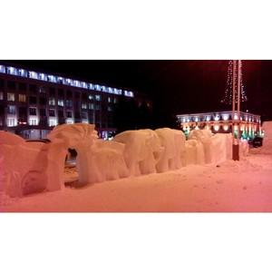 Амурские активисты ОНФ выявили нарушения при строительстве снежного городка в Благовещенске
