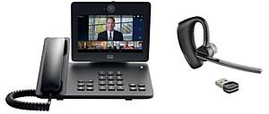 Промо акция Инсотел новогодняя: Видеотелефон Cisco DX650 + Voyager Legend UC