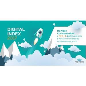 Холдинг Pro-Vision занял лидирующие позиции в рейтинге Digital index 2017
