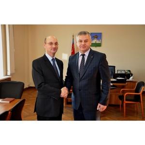 Мэр Орла Сергей Ступин встретился с делегацией из Франции