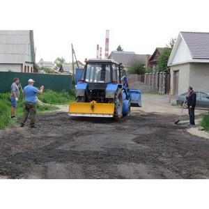 В округе №1 ведётся ремонт дорожного покрытия