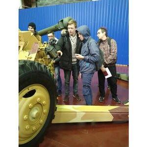 Учащиеся школ Орджоникидзевского района узнали об истории  развития артиллерии на Заводе №9