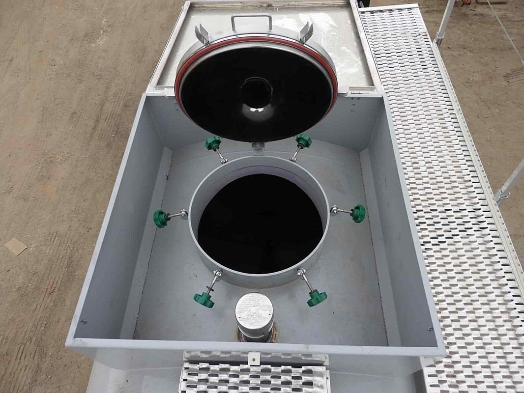 Полуприцеп-цистерна 16 м3, 2 отсека, для прохождения весового контроля