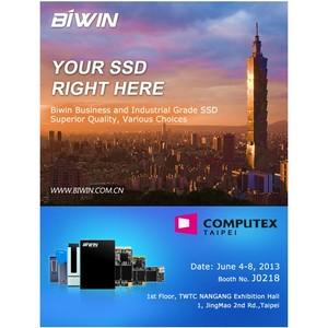 Biwin представит SSD решения бизнес и промышленного классов на выставке CompuTex 2013