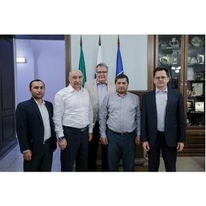 Ректор КФУ провел встречу с руководителем Наманганского инженерно-строительного института