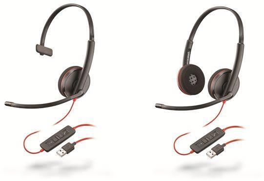 USB-C Гарнитуры Plantronics Blackwire серий 3200, 5200 - гибкость подключения и бесперебойная работа