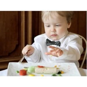Еда для детей из золота