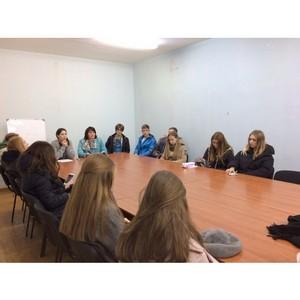Активисты Народного фронта рассказали молодежи Мордовии о конкурсах «Молодежки ОНФ»