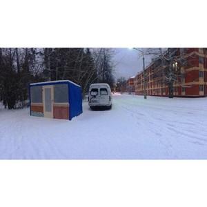 В Академгородке Новосибирска демонтирован самовольно установленный павильон