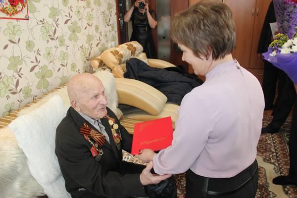 Ветерану УИС Кемеровской области Никифору Сидоровичу Мальцеву исполнилось 100 лет