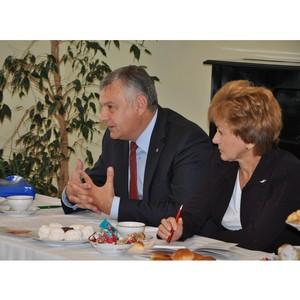 Мэр Орла Сергей Ступин поздравил коллегу со вступлением в должность