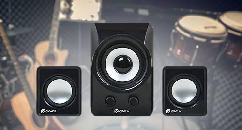 В линейке настольной акустики Oklick появилась первая модель формата 2.1