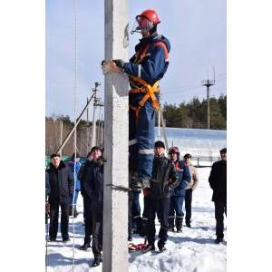 Энергетики филиала «Мариэнерго» отработали навыки ведения высотных работ